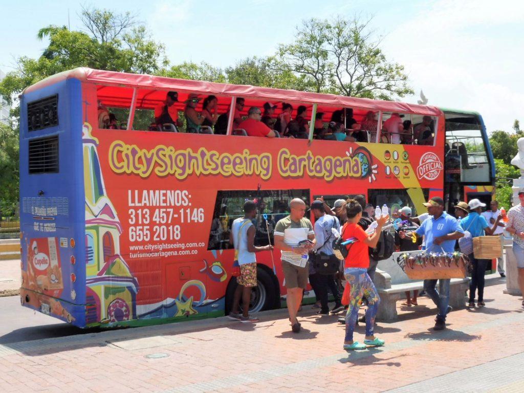 Bus touristique à CARTHAGENE