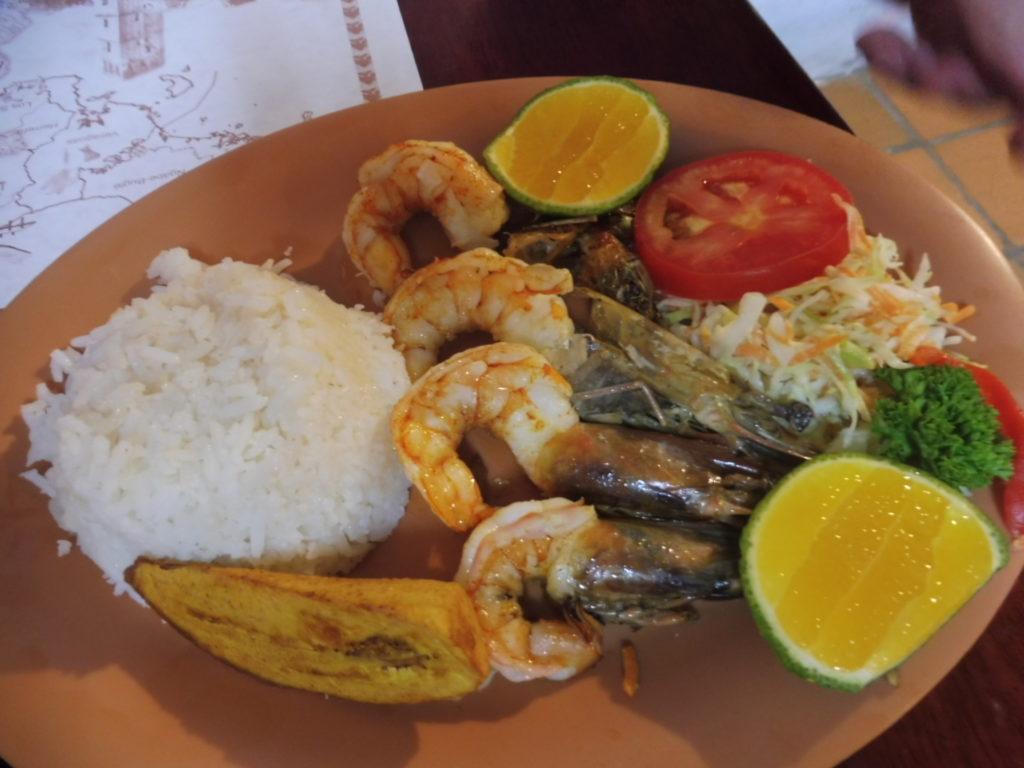 Restaurant El Trapiche Panama City plat typique à base de gambas