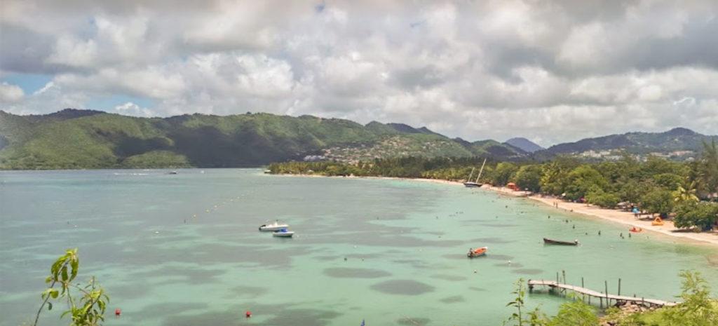 La Pointe Marin playa paradisiaca del Caribe