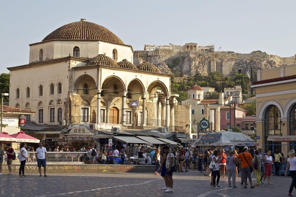 quartier touristique d'Athènes
