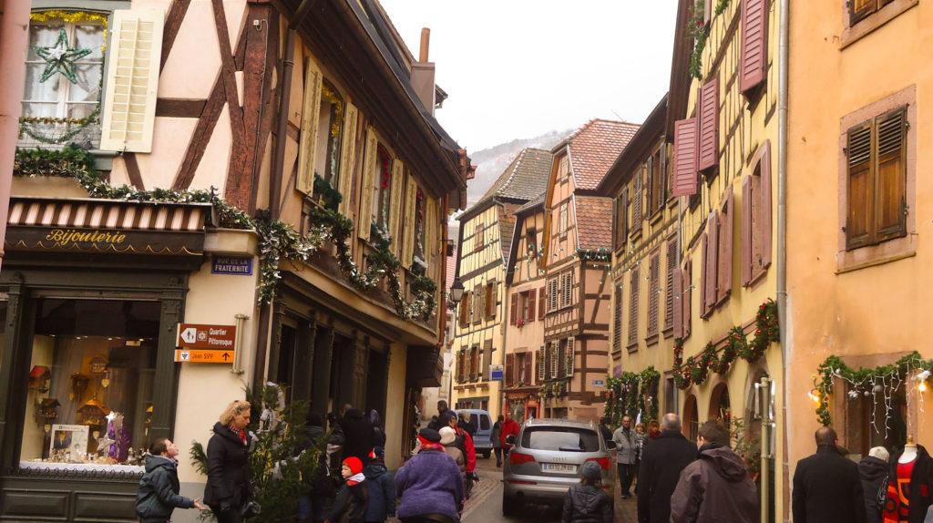 Route des vins d'Alsace étape de notre circuit à Ribeauville