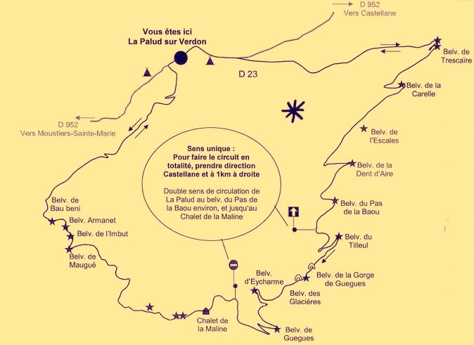 Route des Crêtes Gorges du Verdon Circuit