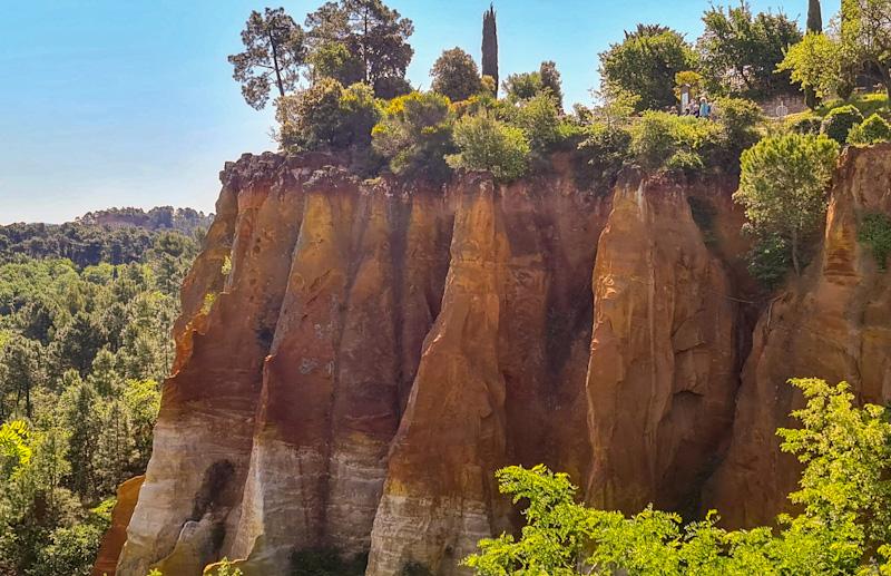 Sentier des ocres en Luberon à Roussilon