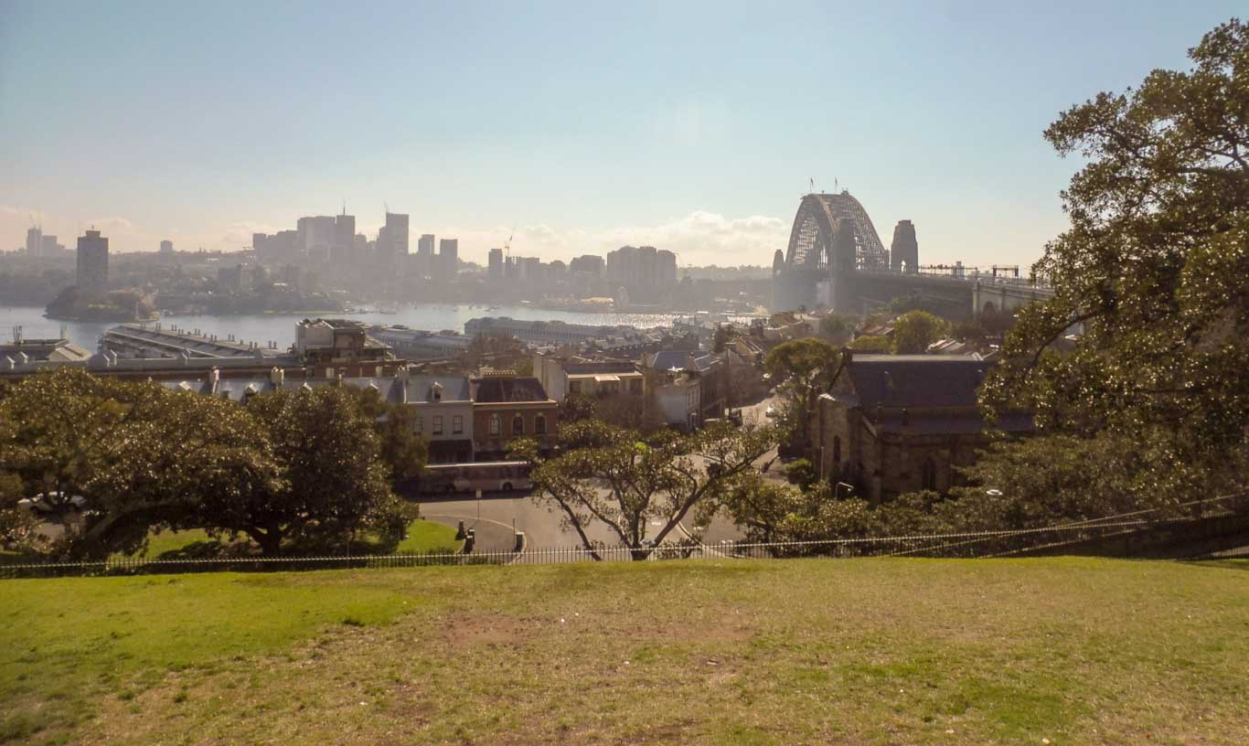Observatory Hill in Sydney city tour