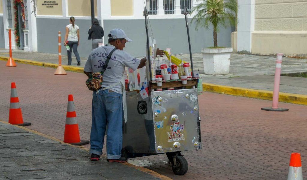 Vendeur de rue Panama City