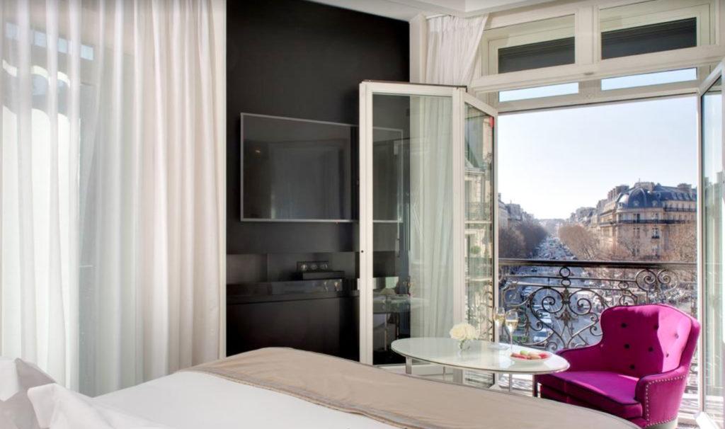 Meilleur hôtel à Paris– Vue de notre chambre à La Villa Haussmann