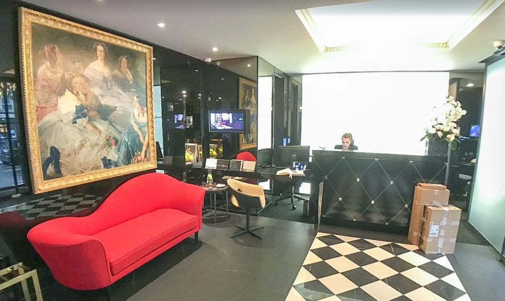 Meilleur hôtel à Paris– La Villa Haussmann et son hall de réception