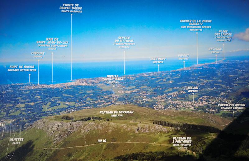 côte basque vue de la Rhune