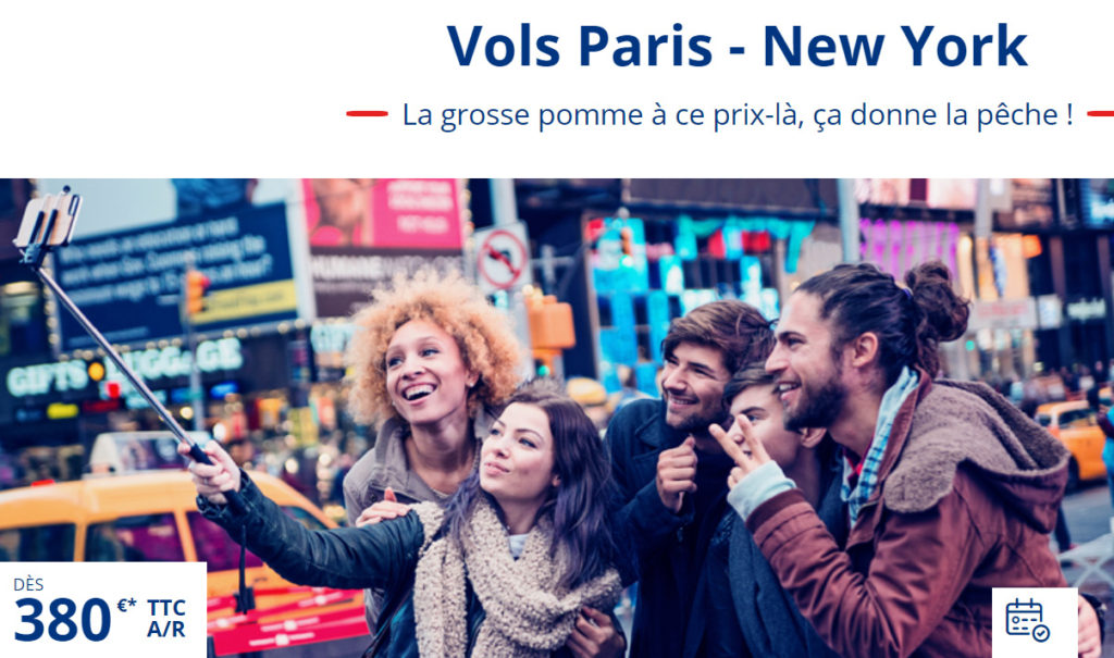 Billets pas chers New York - Cie XL AIRWAYS
