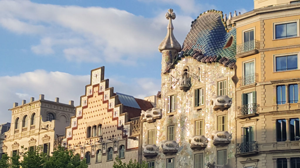 Casa Battlo dans mon itinéraire de visite de Barcelone à pied
