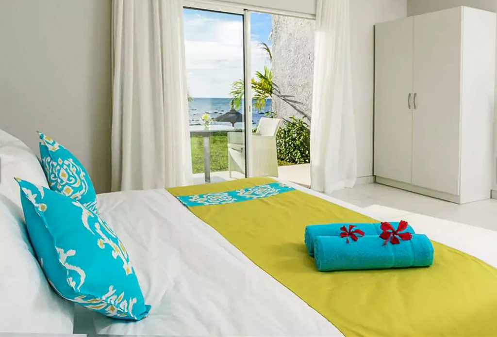Chambre de l'hôtel voile bleue dans hotels pas chers ile maurice