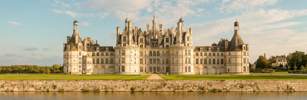 Etape au Chateau de Chambord sur l'itinéraire en voiture en France