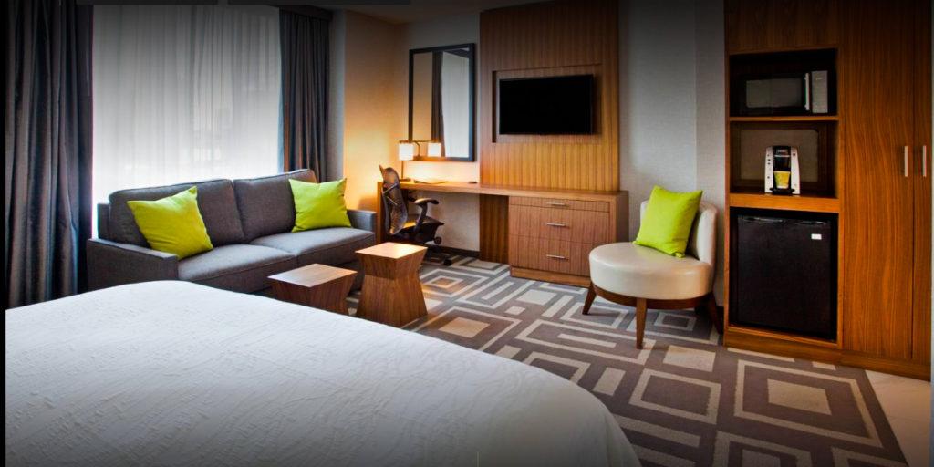 QUEL HOTEL MANHATTAN ? Chambre du Hilton Garden Central Park