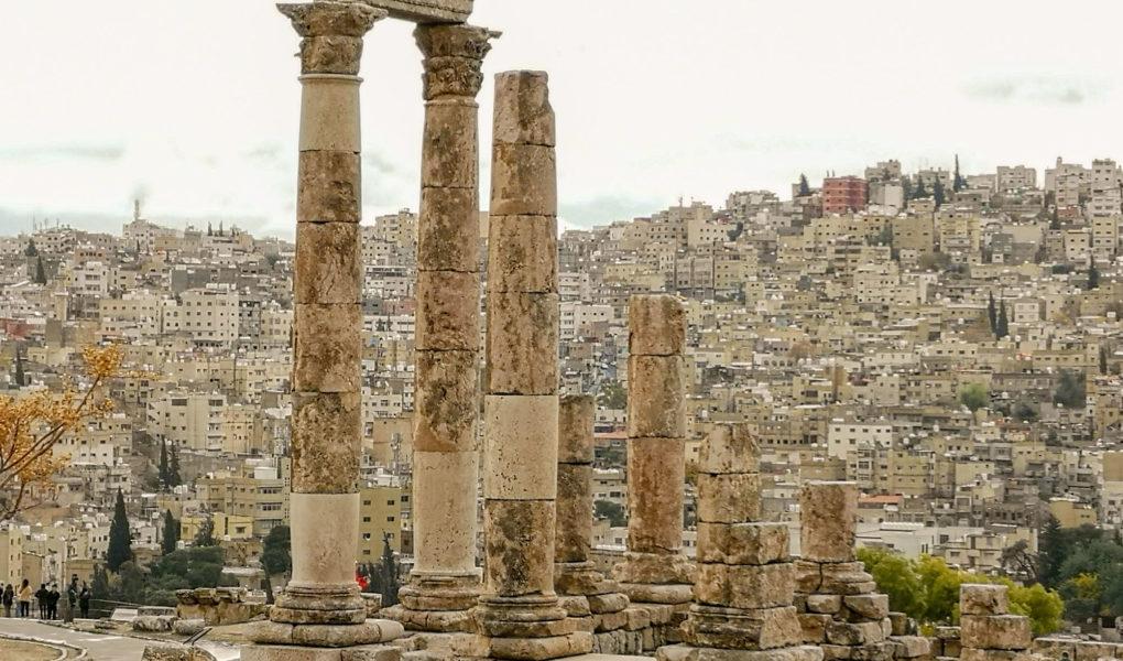 itinéraire à pied avec carte du circuit de visite d'Amman