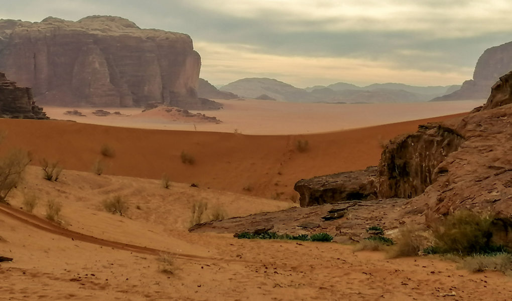 Wadi Rum-ørkenen i Sør-Jordan