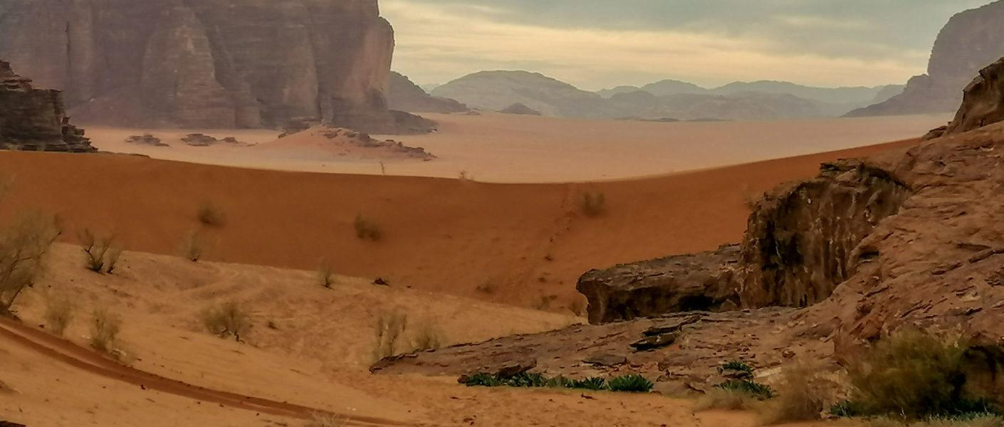 Le désert de Wadi Rum au sud de la Jordanie