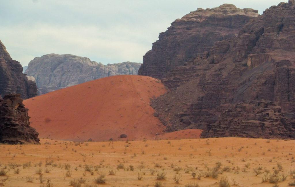 vue du désert de wadi rum