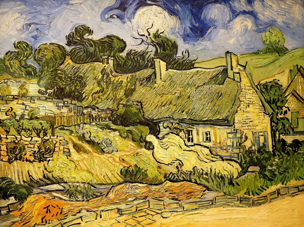Les côteaux de CORDEVILLE peint à Auvers sur Oise
