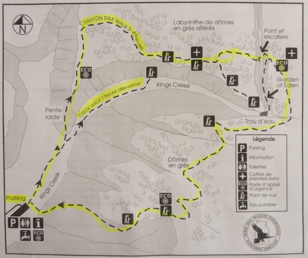 Maps of Kings Canyon walks