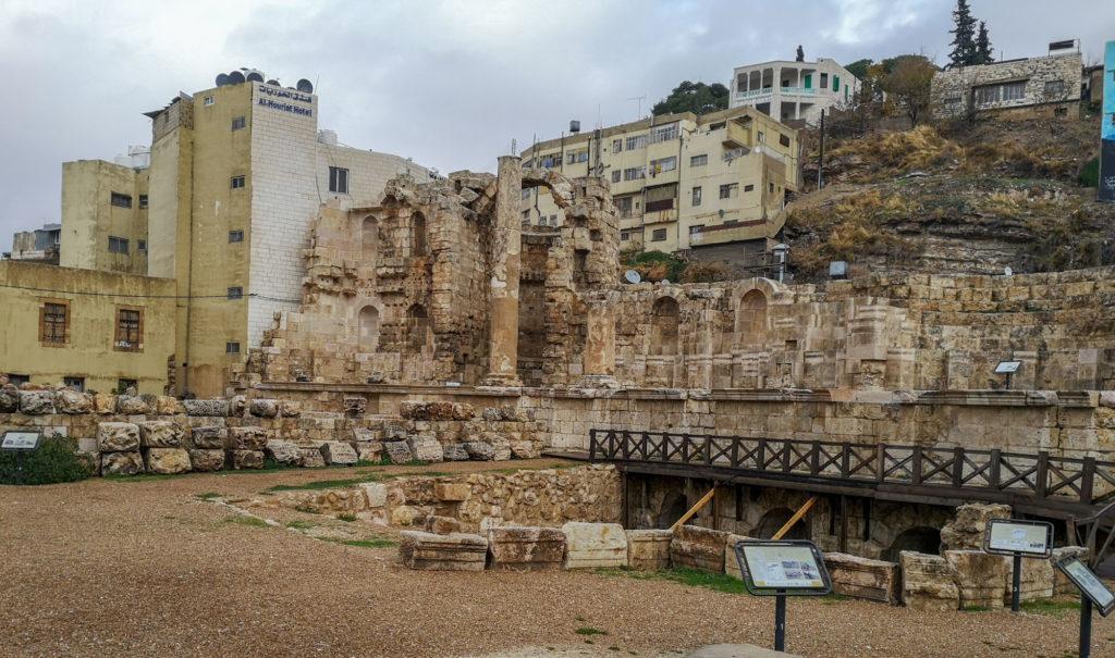 Roman Nymphaeum étape de notre circuit de visite d'Amman à pied