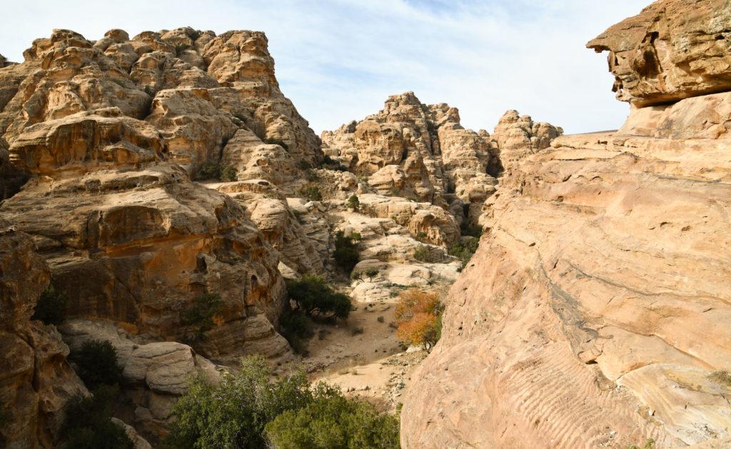 Vue panoramique du point de vue de la petite petra