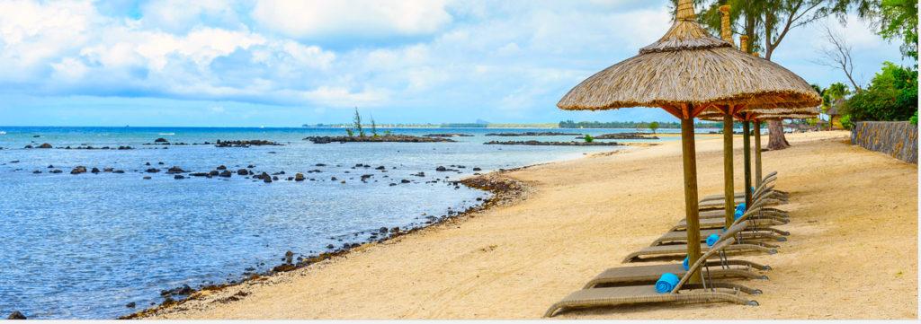 HOTELS PAS CHERS ILE MAURICE - plage de l'hôtel Voile Bleue