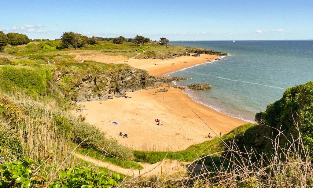 Corniches et plages à Pornic en Bretagne Sud