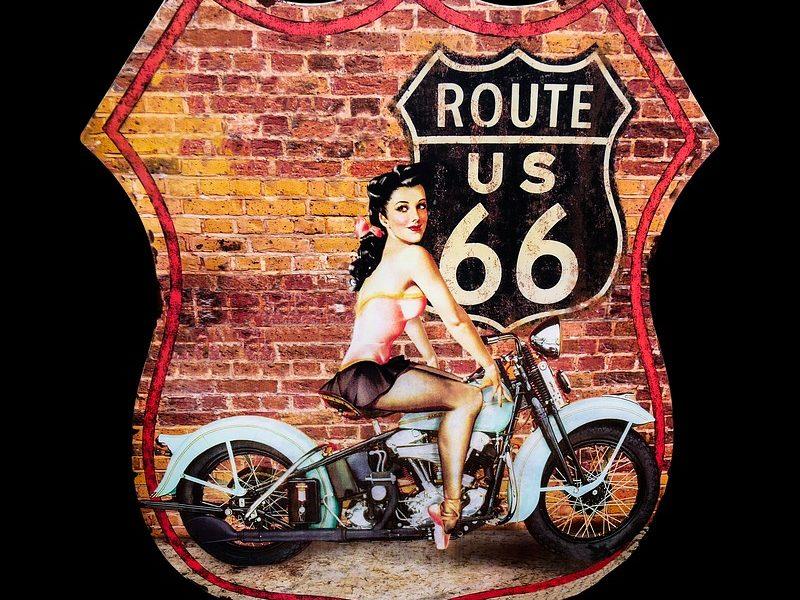 itinéraire de voyage sur la route 66 en moto