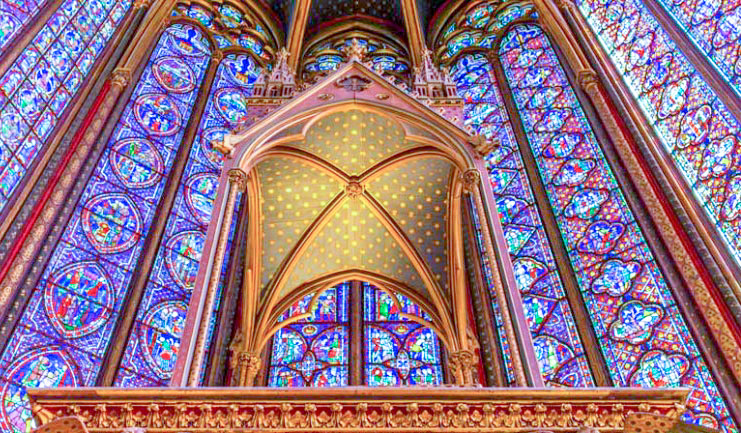Paris in 1 day walking itinerary visit to LA SAINTE CHAPELLE